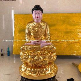 Dát vàng tượng Phật A Di Đà cao 60cm đẹp tôn nghiêm