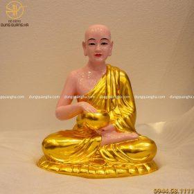 Dát vàng tượng Phật Sivali cao cấp đẹp trang nghiêm