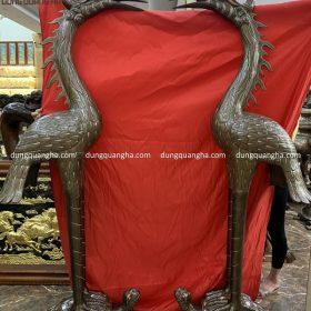 Đôi hạc thờ bằng đồng cỡ lớn cao 1m92 khảm tam khí
