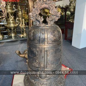 Đúc chuông đồng Đại Hồng Chung tinh xảo nặng 98kg
