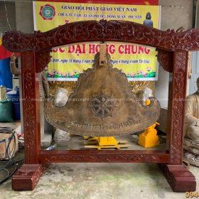 Đúc Khánh đồng giá gỗ lim cho chùa Chánh Đẳng Giác - Tây Ninh