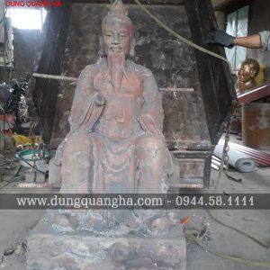 Đúc tượng Ngọc Hoàng Thượng Đế cao 1m27 thờ trong đền, phủ