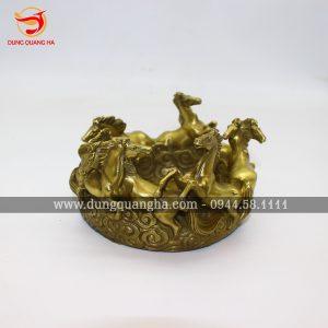 Gạt Tàn Thuốc bằng đồng với tạo hình Ngựa phi độc đáo