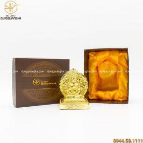 Hộp quà tượng Phật Thiên Thủ Thiên Nhãn mạ vàng độc đáo