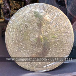 Mặt trống đồng treo tường có bản đồ Việt Nam