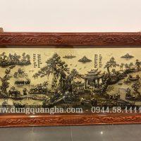Mẫu tranh đồng quê khung gỗ tùng cao cấp