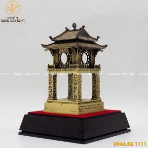 Mô hình Khuê Văn Các bằng đồng vàng mộc