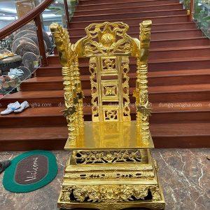 Ngai thờ bằng đồng đỏ thếp vàng kích thước 80 x 50 x 39 cm