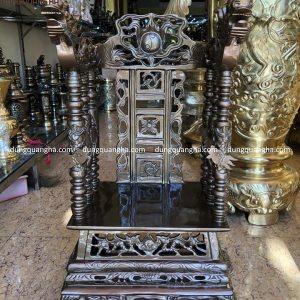 Ngai thờ gia tiên cao 68cm bằng đồng đỏ hun màu cổ kính