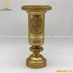 Ống đựng hương bằng đồng vàng cao 24cm