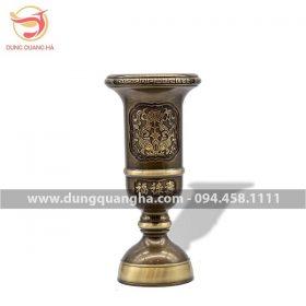 Ống đựng hương bằng đồng vàng hai công nghệ