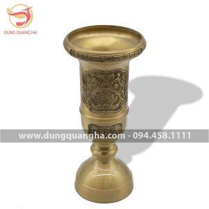 Ống đựng hương bằng đồng vàng mộc