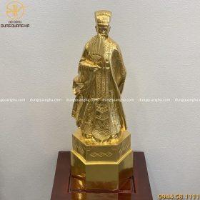 Pho tượng Khổng Minh bằng đồng thếp vàng 9999 cao 67cm