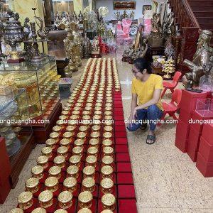 Quả trống đồng mini mạ vàng quà tặng - hàng đặt theo yêu cầu