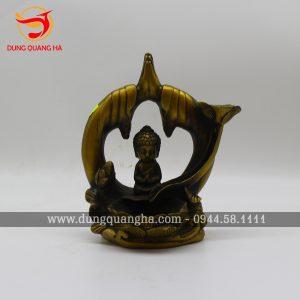 Thác đốt trầm bằng đồng tượng Phật