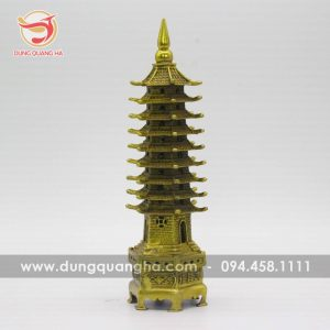 Tháp Văn Xương 9 tầng bằng đồng vàng mộc