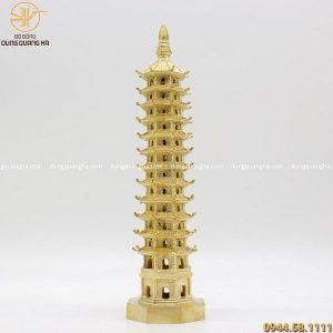 Tháp Văn Xương phong thủy bằng đồng vàng cao 30cm
