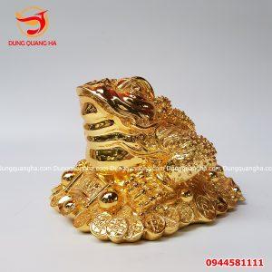 Thiềm Thừ đồng mạ vàng 24k tinh xảo