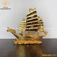 Thuyền rồng cao cấp bằng đồng mạ vàng 24k