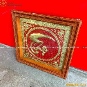 Tranh chữ Thọ bằng đồng thư pháp chữ tiếng Việt