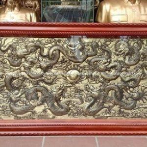 Tranh đồng Cửu Long tranh châu đẹp tinh xảo sắc nét