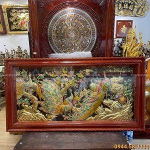 Tranh đồng Ngọc Đường Phú Quý màu sắc tươi mới 1m7 x 90cm