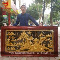 Tranh đồng quê mạ vàng 24k kích thước 1m7