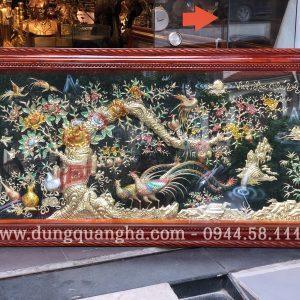 Tranh đồng Vinh Hoa Phú Quý kích thước 1m7