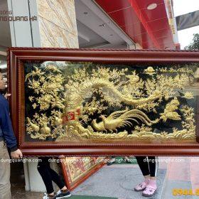 Tranh đồng Vinh Hoa Phú Quý kích thước 2m3 dát vàng 9999