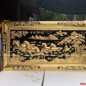 Tranh Mã Đáo Thành Công 2m3 dát vàng