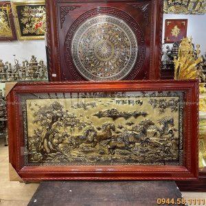 Tranh Mã Đáo Thành Công bằng đồng xước giả cổ 1m7 x 90cm