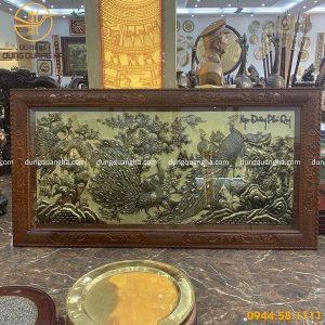 Tranh Ngọc Đường Phú Quý bằng đồng 2m3 xước giả cổ
