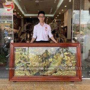 Tranh Ngọc Đường Phú Quý khung gỗ kính cao cấp 1m7