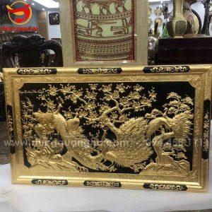 Tranh Ngọc đường phú quý mạ vàng kích thước 1m55 x 81cm