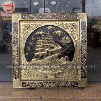 Tranh Thuận Buồm Xuôi Gió khung vuông liền đồng