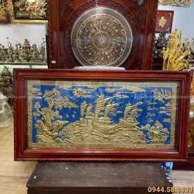 Tranh treo tường Thuận Buồm Xuôi Gió nền xanh 1m7 x 90cm