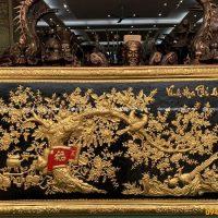 Tranh Vinh Hoa Phú Quý bằng đồng dát vàng 9999 tinh xảo