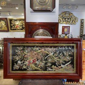 Tranh Vinh Hoa Phú Quý đẹp tinh xảo kích thước 2m3 x 1m2