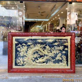 Tranh Vinh Hoa Phú Quý mạ vàng 24k kích thước 2m56 x 1m55