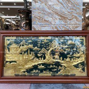 Tranh Vinh Quy Bái Tổ bằng đồng thếp vàng kích thước 2m3