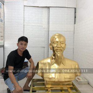 Tượng Bác Hồ 80cm thếp vàng