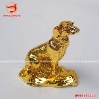 Tượng chó phong thủy mạ vàng 24k