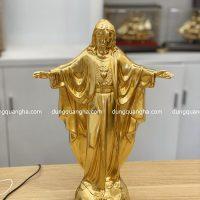 Tượng Chúa cao 40cm bằng đồng dát vàng 9999 tinh xảo
