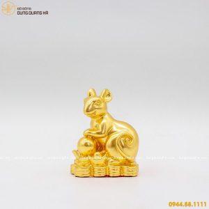 Tượng chuột thếp vàng - linh vật phong thủy tài lộc độc đáo