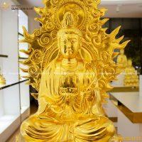 Tượng Đại Thế Chí Bồ Tát bằng đồng liếc sau thếp vàng