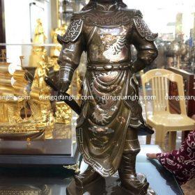 Tượng danh tướng Phạm Ngũ Lão cao 50cm khảm tam khí