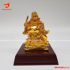 Tượng Di Lặc Bằng Đồng mạ vàng 24k