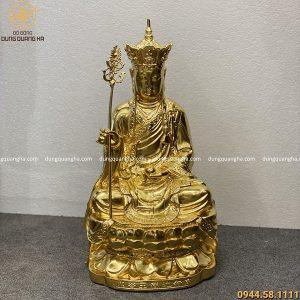 Tượng Địa Tạng Vương Bồ Tát cao 47 cm dát vàng 9999