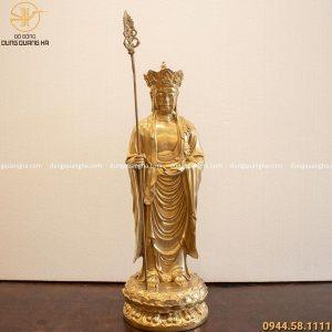 Tượng Địa Tạng Vương Bồ Tát cao 47cm (cả trượng 55cm)