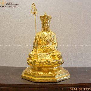 Tượng Địa Tạng Vương Bồ Tát dát vàng 9999 đẹp tôn nghiêm